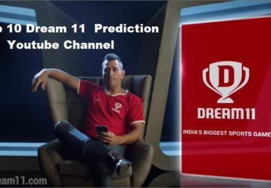Top 10 Dream 11 Prediction Youtube Channel