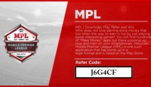 MPL referal Code