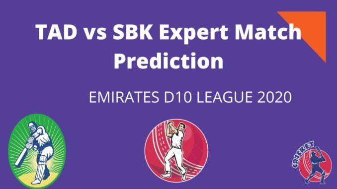 TAD Vs SBK Dream11 Team Prediction
