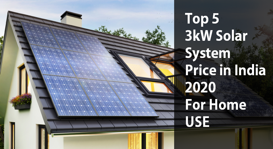 3kW Solar System Price in India