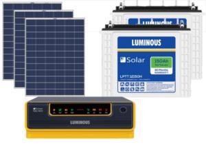 Luminous NXG1800 + LPTT12150H 150Ah 2Nos + 325Watts Solar Panel 2No