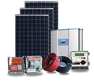Solglow Roof top Solar Power Plant Off-Grid 3kW - Waree/Kirloskar