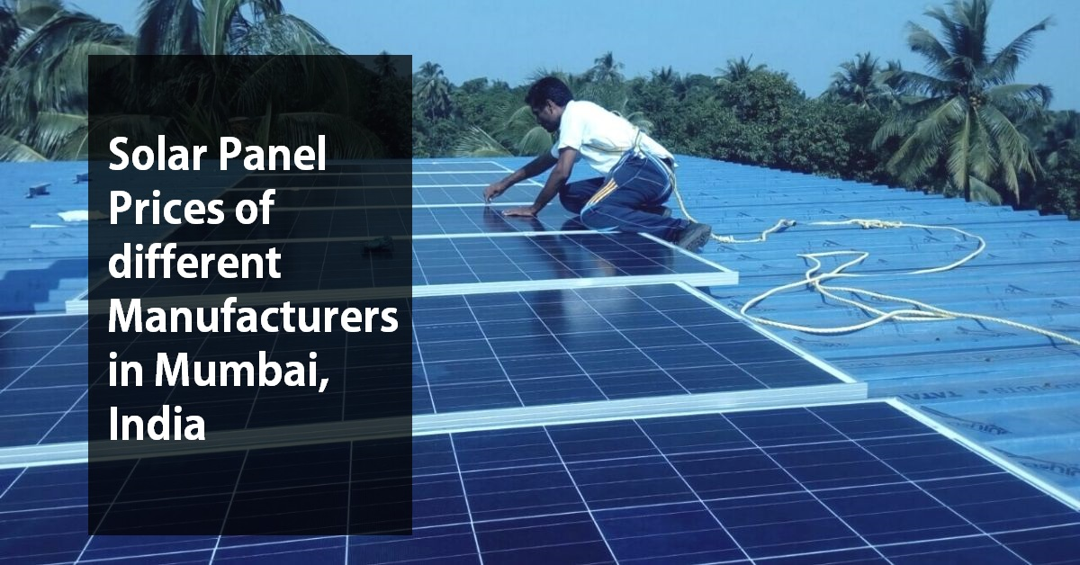 solar panel price in mumbai